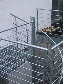 Spindeltreppe außen verzinkt gebraucht